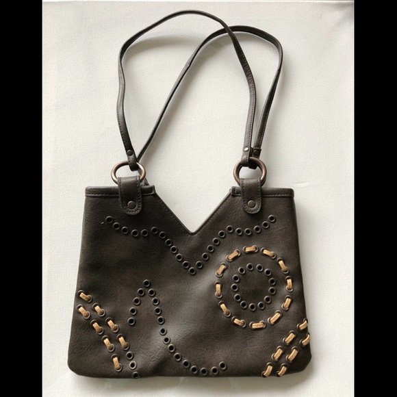 Express Bags Brown Purse With Embroidery Poshmark